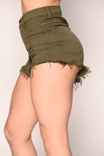 In The Fray Shorts - Army Green