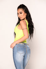 Center of Attention Bodysuit - Neon Yellow