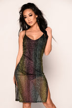 Drippin' In Glitter Dress - Black
