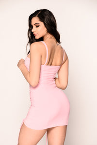 No Strings Attached Dress - Light Pink