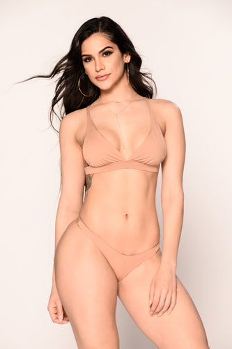 Send Nudes Triangle Bikini Top - Rose Dawn