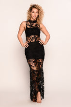 Lovely Lace Dress - Black