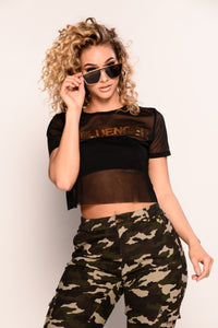 Under The Influence Top - Black