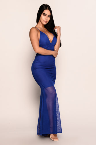 Make An Entrance Dress - Royal Blue
