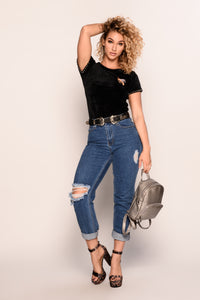 Queen B Top - Black