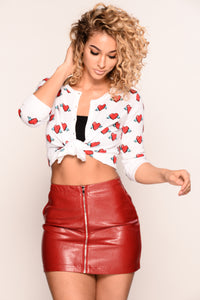 Heart On My Sleeve Cardigan - Red