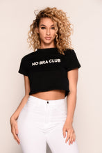 No Bra Club Crop Top - Black