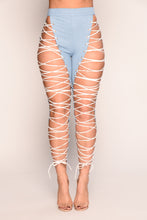 Kammie Lace Up Pants - Blue