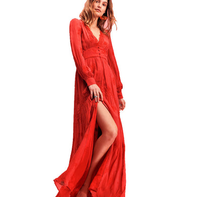 80db28618e41 Women oversized Embroidery Bohemian Dress Spring Fall Hippie Boho People  Deep V Neck Fit and Flare