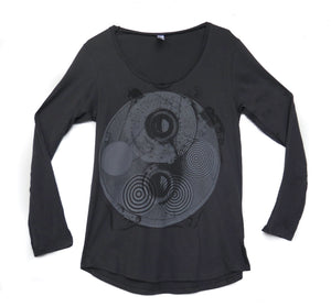 Hypnosis Charcoal Long Sleeve - WOMENS