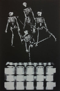 Skeletons on a wall