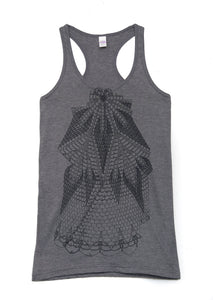 Lace Charcoal Tank - WOMENS