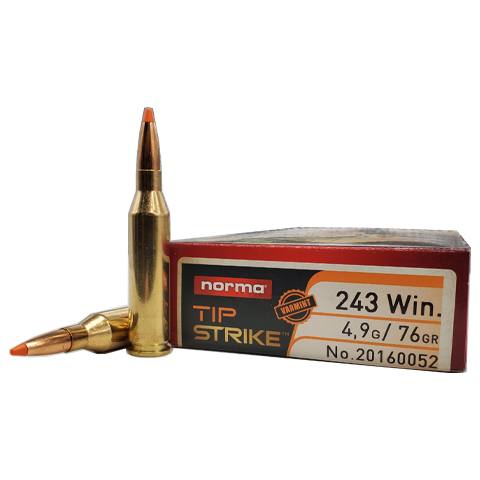 243 Win - Norma 76 Grain Tip Strike