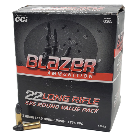 22 Long Rifle - CCI Blazer 38 Grain Lead Round Nose Value Pack
