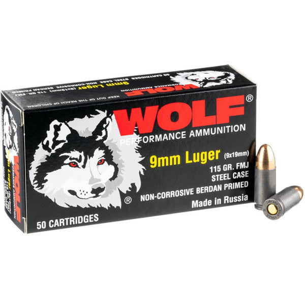 9mm - Wolf Performance 115 GR. FMJ