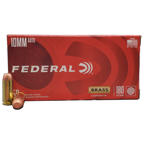 10mm - Federal Champion 180 Grain FMJ