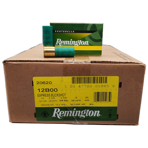 "12 Gauge - Remington 2-3/4"" Express 00 Buckshot Case"