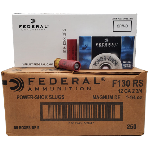 12 Gauge - Federal Power-Shok Magnum Rifled Slug Case