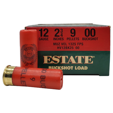 "12 Gauge - Federal Estate 2-3/4"" 00 Buckshot"