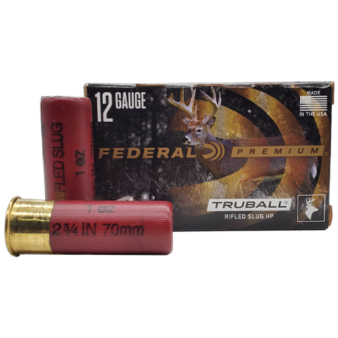 "12 Gauge - Federal Premium 2 3/4"" 1 oz. Truball Rifled Slug HP"