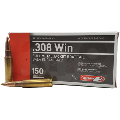 308 Win - Aguila 150 Grain Full Metal Jacket Boat Tail