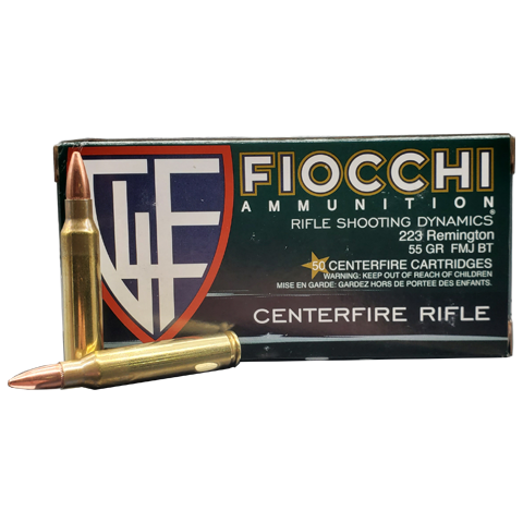 223 Rem - Fiocchi Shooting Dynamics 55 Grain FMJ
