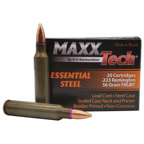223 Rem - MaxxTech 56 Grain Full Metal Jacket