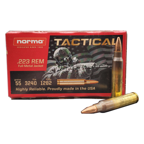 223 Rem - Norma Tactical 55 Grain FMJ