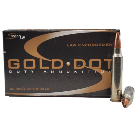 223 Rem - Speer Gold Dot LE 62 Gr. SP Self Defense