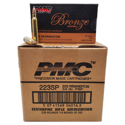 223 Rem - PMC Bronze 55 Grain Soft Point Case