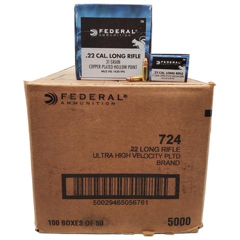 22 Long Rifle - Federal Game-Shok 31 Grain CPHP 5000rd Case