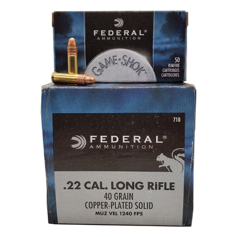 22 Long Rifle - Federal Game-Shok 40 Grain CPRN