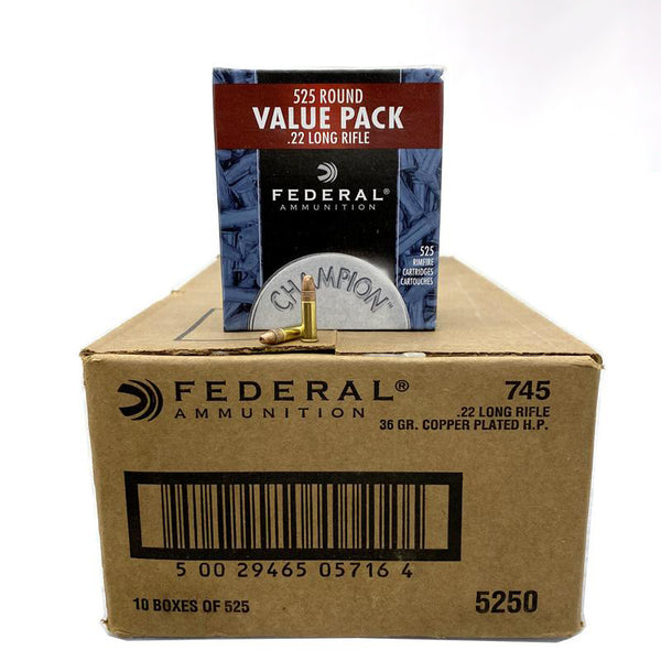 22 Long Rifle - Federal 36 Grain CPHP 5,250 Rd. Case