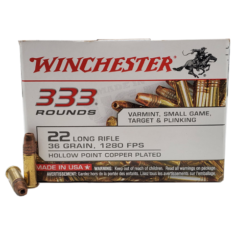 22 Long Rifle - Winchester USA White Box 36 Grain CPHP