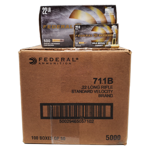 22 Long Rifle - Federal 40 Grain Gold Medal Target 5000rd. Case