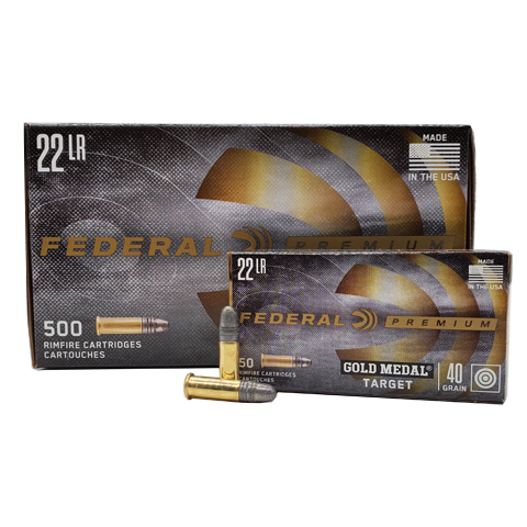 22 Long Rifle - Federal 40 Grain Gold Medal Target 500rd. Brick
