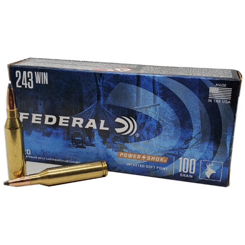 243 Win - Federal Power-Shok 100 Grain Soft Point