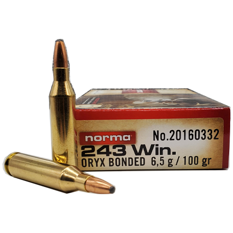 243 Win - Norma 100 Grain Oryx Bonded Soft Point