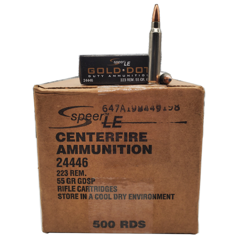 223 Rem - Speer Gold Dot LE 55 Gr. SP Self Defense Case