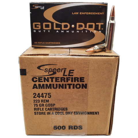 223 Rem - Speer Gold Dot LE 75 Gr. SP Self Defense Case