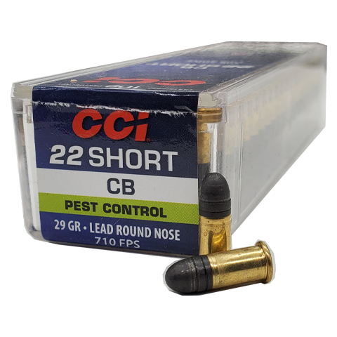 22 Short - CCI CB 29 Grain Lead Round Nose