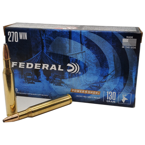 270 Win - Federal 130 Grain Power-Shok Soft Point