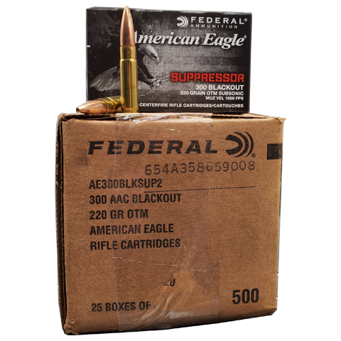 300 Blackout - Federal AE 220 Grain Subsonic OTM