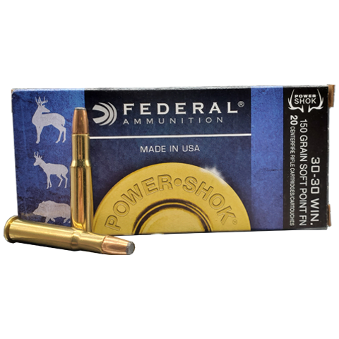 30-30 - Federal Power Shok 150 Grain JSP
