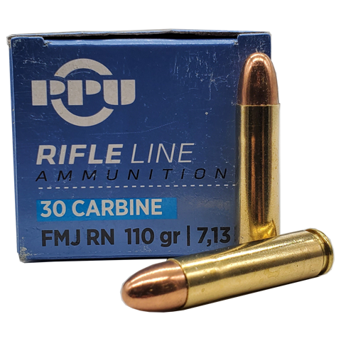30 Carbine - PPU 110 Grain FMJ