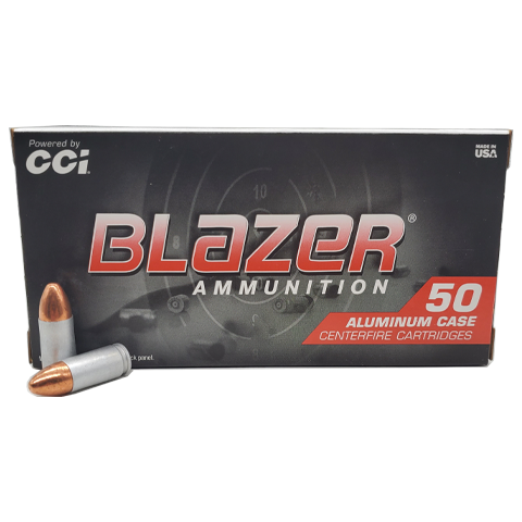 9mm - CCI Blazer Aluminum 115 GR. Full Metal Jacket