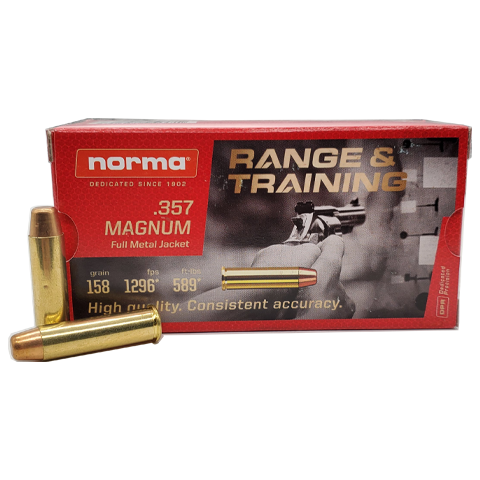 357 Magnum - Norma 158 Grain Flat Point FMJ