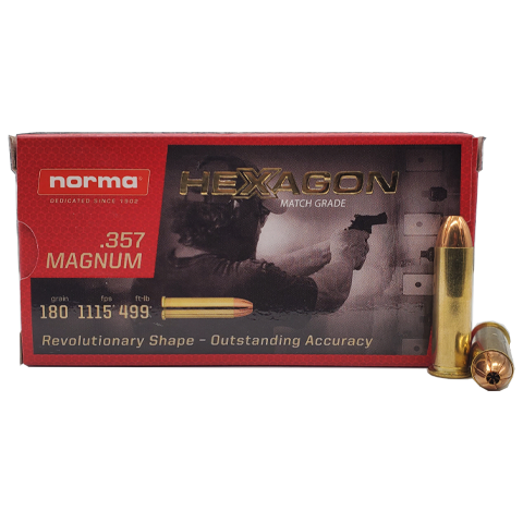357 Magnum - Norma Hexagon 180 Grain Hollow Point