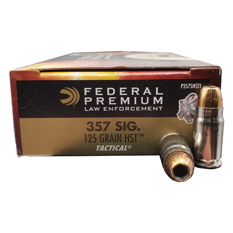 357 Sig - Federal LE 125 Gr. HST Jacketed Hollow Point