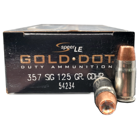 357 Sig - Speer LE Gold Dot 125 Grain JHP